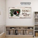 You Had Me at Woof | Personalized Canvas Wall Art