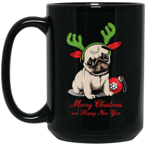 Pug Puppy Holiday Coffee Mug