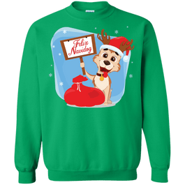 Feliz Navidog Christmas Sweaters, mugs, and ornaments