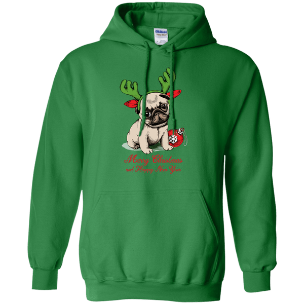 Merry Christmas Pug Puppy
