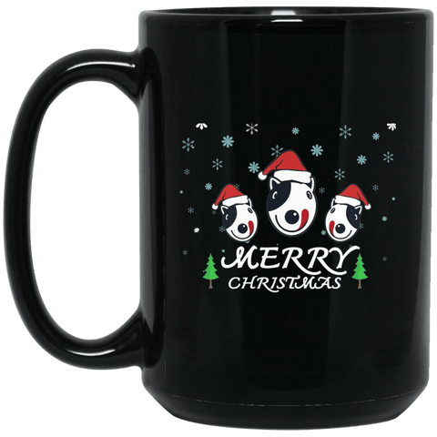3 Dogs Merry Christmas Mug