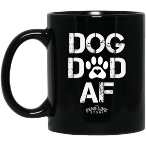 Dog Dad AF 11 oz. Black Mug