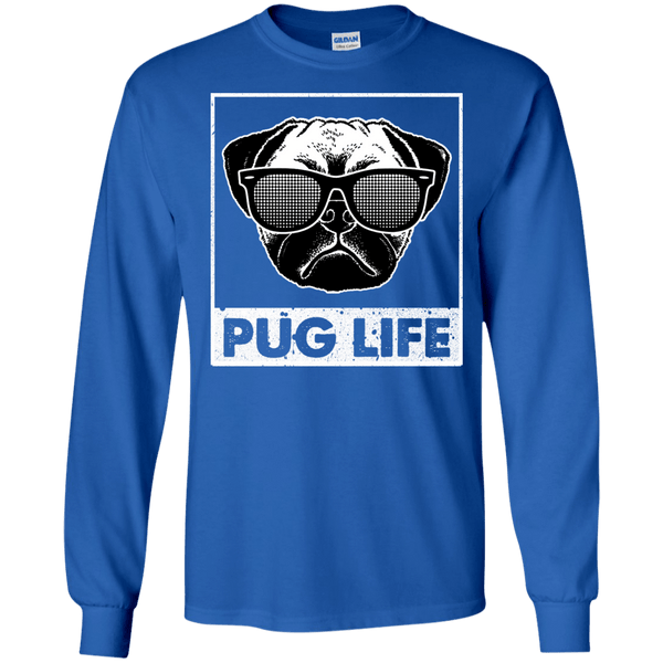 Pug Life Shirt For Men blue black gray green