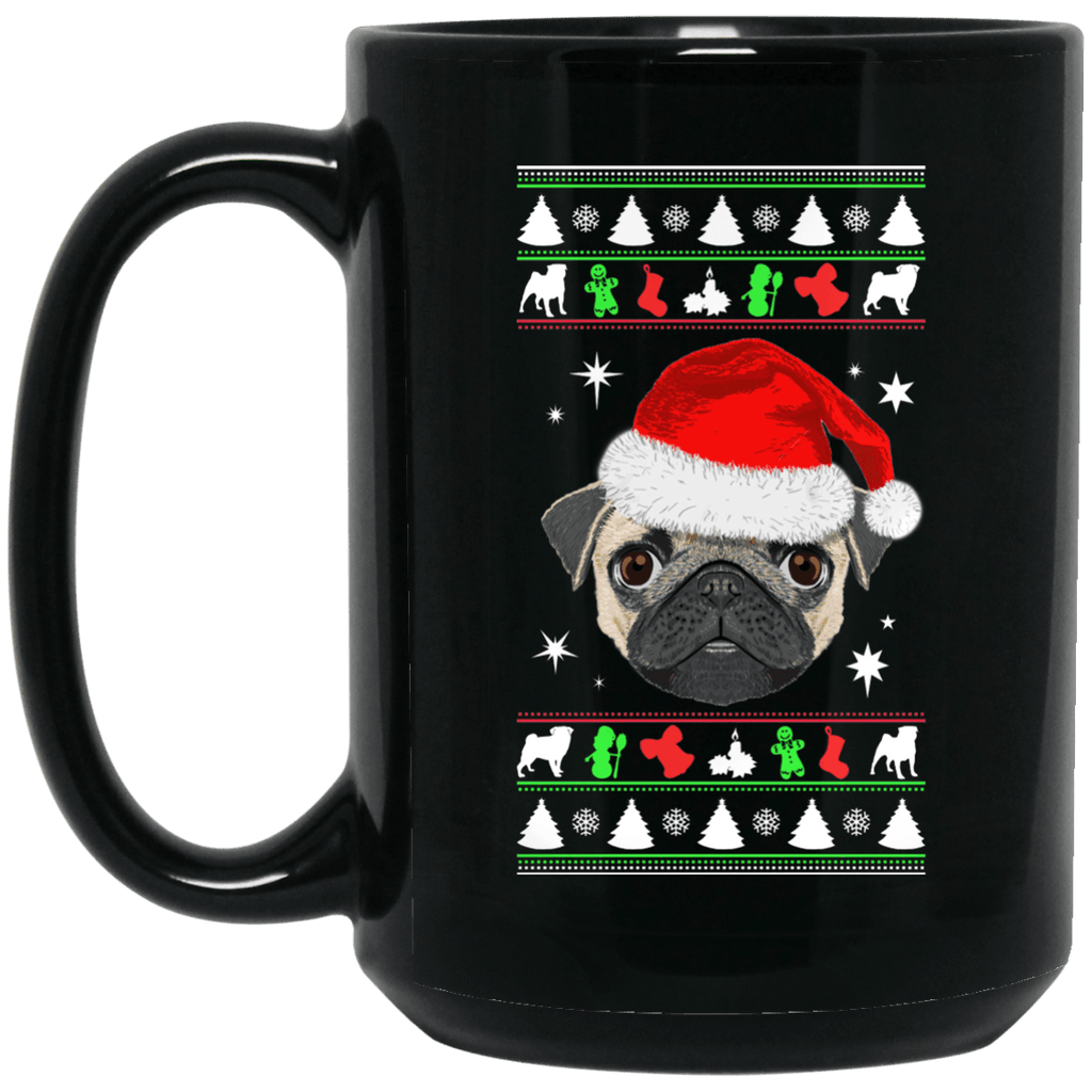 Pug Face Christmas Coffee Mug
