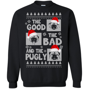 The Good, The Bad, The Pugly Christmas Sweater