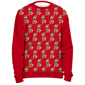 All Over Pug Christmas Sweater - Red