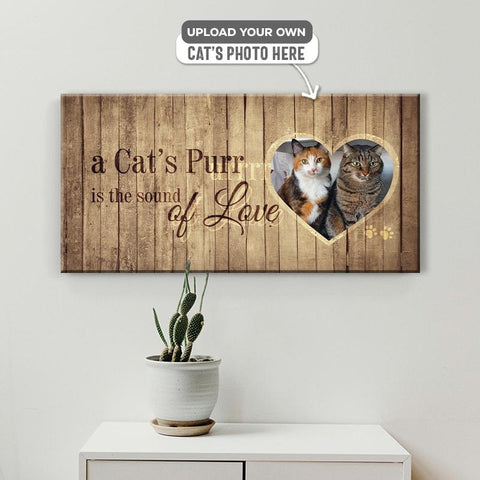 A Cat's Purr | Personalized Canvas Wall Art