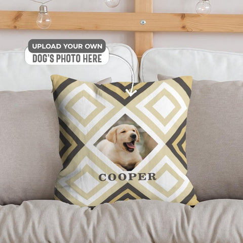 Square pattern Dog... | Pillow
