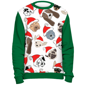 All Over Dogs Christmas Sweater - Green