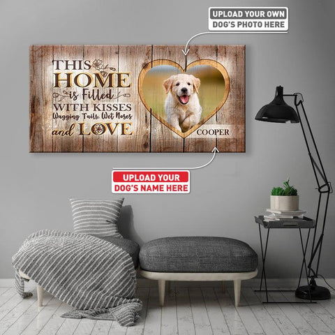 This Home is Filled with Kisses | Personalized Canvas Wall Art