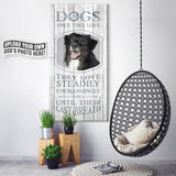 Dogs, Once They Love | Personalized Canvas Wall Art