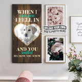 When I Saw You, I Fell in Love | Personalized Canvas Wall Art