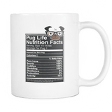 Pug Life Nutrition Facts - Mug
