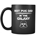 best pug dad in the galaxy mug