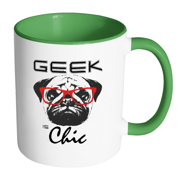Geek is Chic Pug Mug