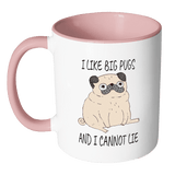 I Like Big Pugs 2 Toned Mug