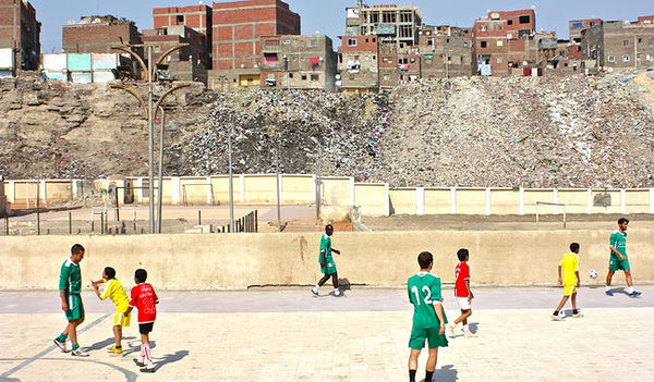 A picture from Football Beyond Borders' tour of the Middle East, 2011.