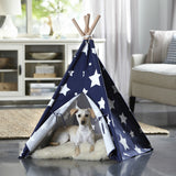 Merry Products™ Pet Teepee Blue with White Stars PTP0070203000 PTP0080203000 - A Doggie's Home