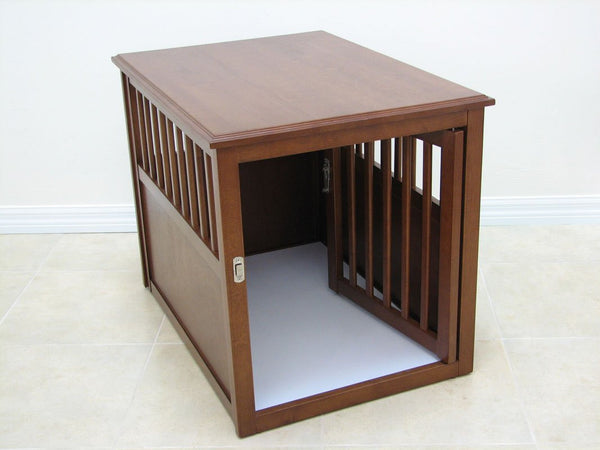 Crown Pet Products Pet Crate Table CRATE-M-ESP CRATE-M-MAH CRATE-L-ESP MAH-L-MAH - A Doggies Home