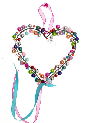 Boho hanging heart decoration