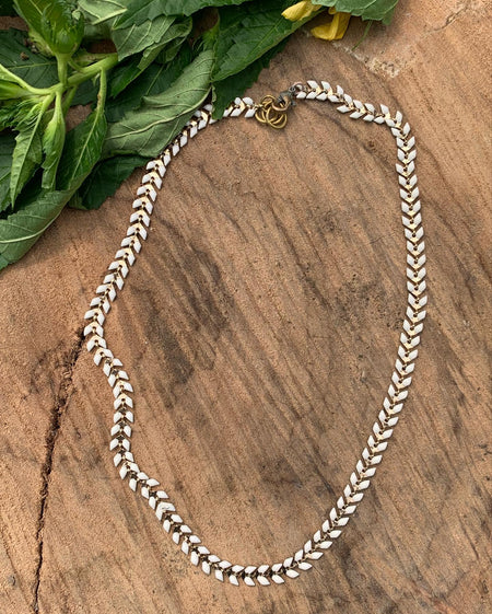 Fancy Detail Chain - Long wrap around sterling silver plated necklace