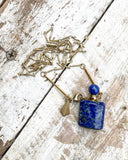 Lapis Lazuli Essential Oil Bottle Necklace