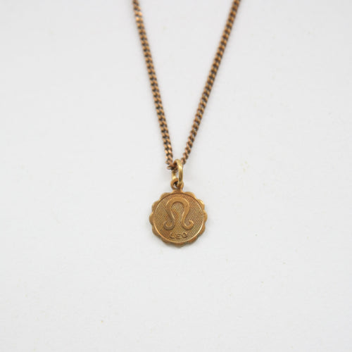 Leo - Small Zodiac Medallion