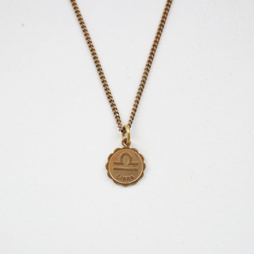 Libra - Small Zodiac Medallion