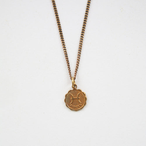 Pisces - Small Zodiac Medallion