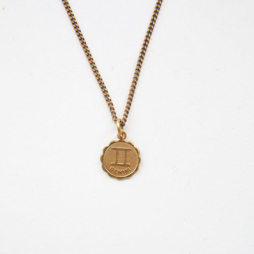 GEMINI - Small Zodiac Medallion