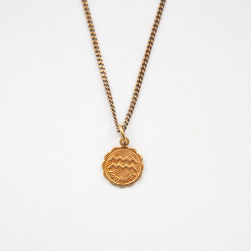 Aquarius - Small Zodiac Medallion