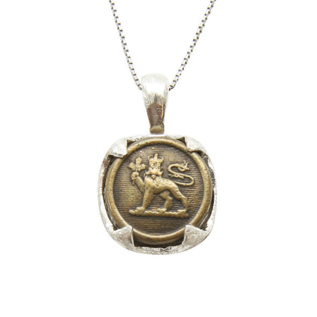 Vintage Canadian Medallion Coin Necklace - Bird