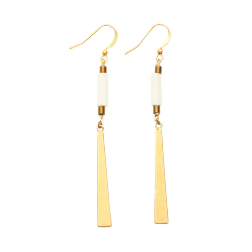 Laborde Designs Jewelry Oseye Vintage Bone Earrings