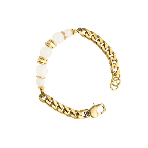 Laborde Designs Jewelry Renenet Moostone Brass Bracelet