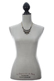 Laborde Designs Jewelry Chisisi Pyrite Vintage Necklace Modeled