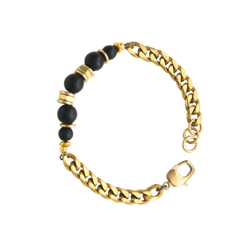 Laborde Designs Jewelry Sabola Onyx Brass Bracelet