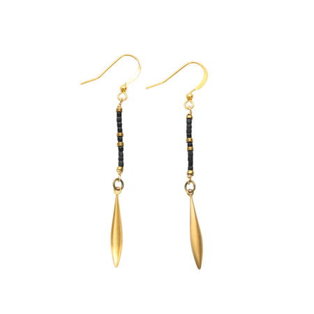 Zuberi Onyx Vintage Earrings
