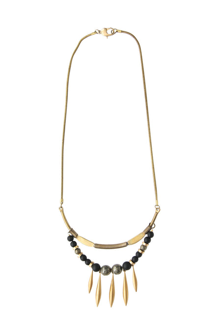 Kasiya Vintage Brass Necklace