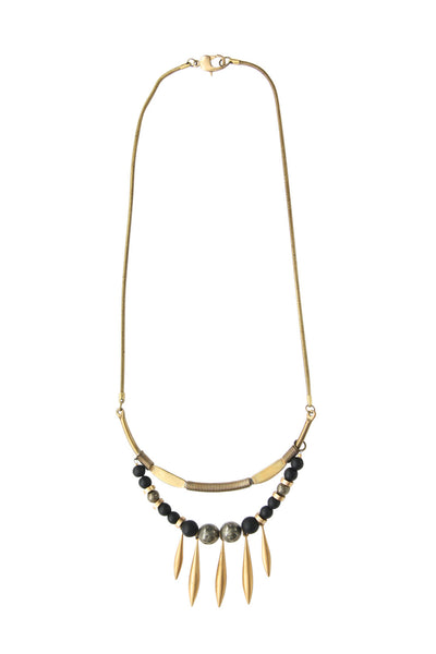Eboni Labradorite Vintage Necklace
