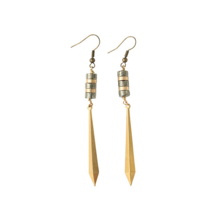Sagria Vintage Hematite Earrings