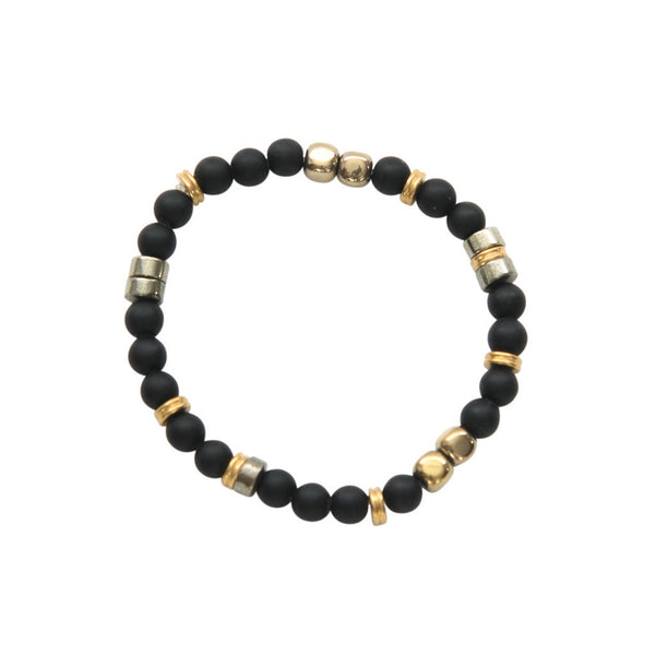 Laborde Designs Jewelry Hanabal Onyx Pyrite Bracelet
