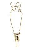 Laborde Designs Jewelry Hapi Onyx Pyrite Industrial Necklace