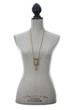 Laborde Designs Jewelry Jahi Moonstone Labradorite Industrial Necklace Modeled