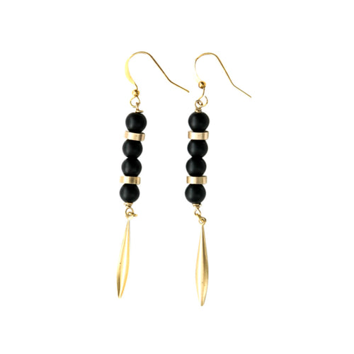 Laborde Designs Jewelry Nour Onyx Vintage Earrings