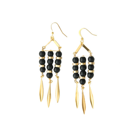 Nour Onyx Vintage Earrings