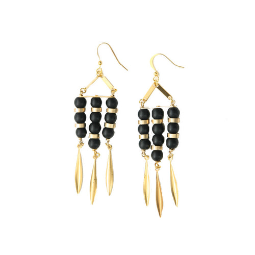 Laborde Designs Jewelry Rania Onyx Vintage Earrings