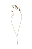 Laborde Designs Jewelry Layla Vintage Brass Bar Necklace