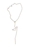 Laborde Designs Jewelry Nailah Brass Charm Lariat Necklace