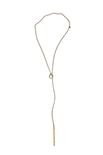 Laborde Designs Jewelry Odion Brass Charm Necklace