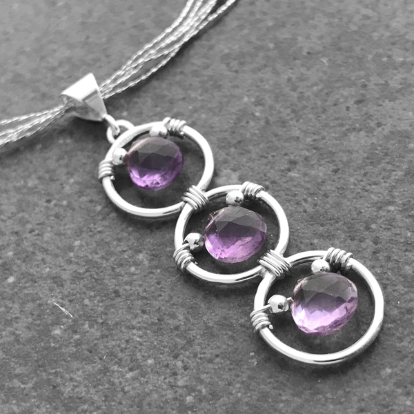 Intuition - 6th Chakra - Amethyst with Infinity Loop - EliseLebeau.com